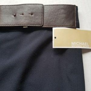 MICHAEL Michael Kors Skirts - MK Belted Work Solid Color Midi Skirt